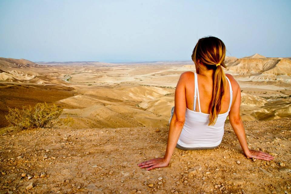 Israel looking at horizon