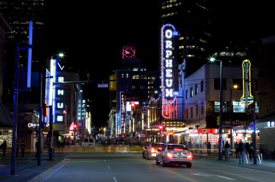 Vancouver-night-street