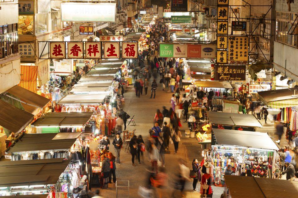 Prince Edward market Hong Kong Shopping