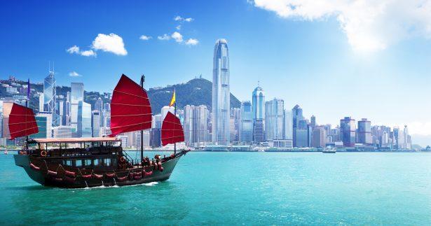 Image of Exploring Hong Kong's Victoria Harbor By Junk Boat