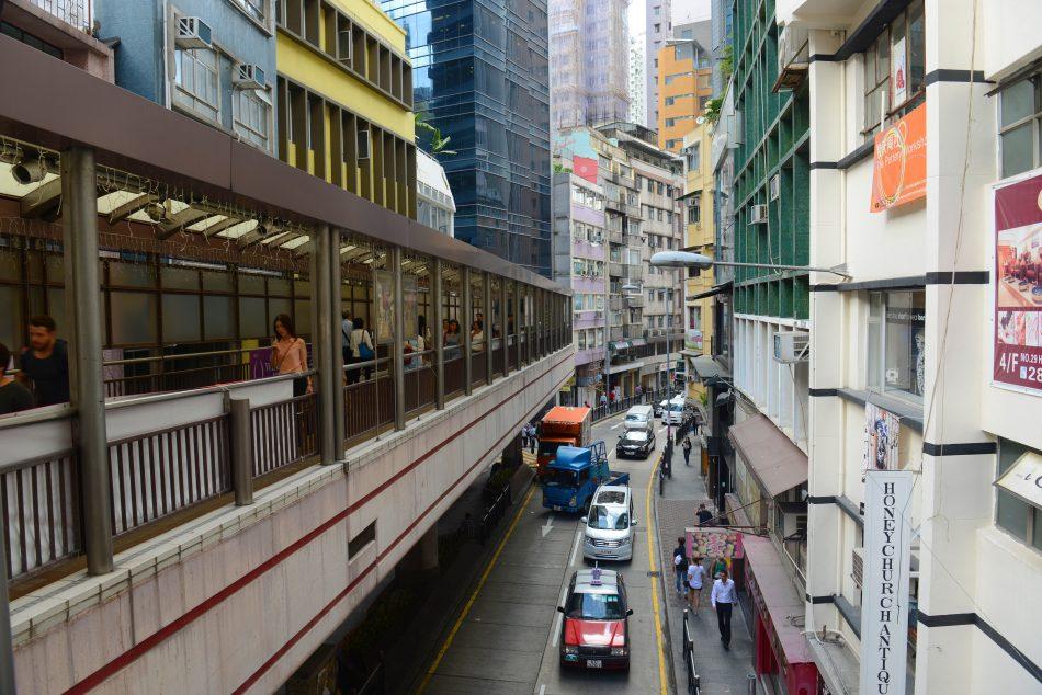 escalators Hong Kong