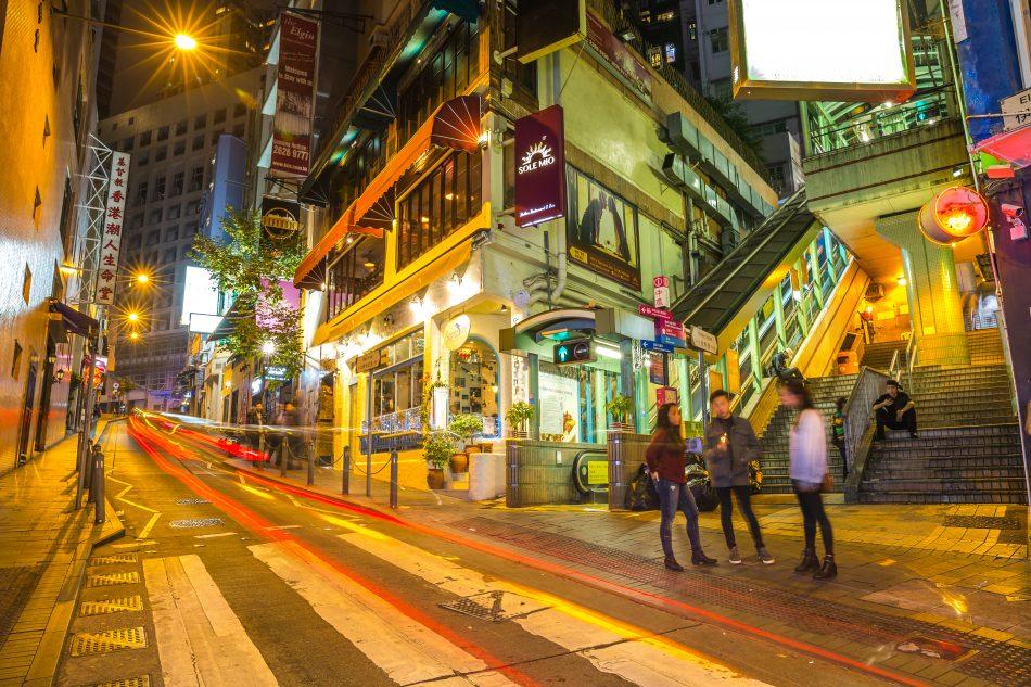 Hong Kong escalator system