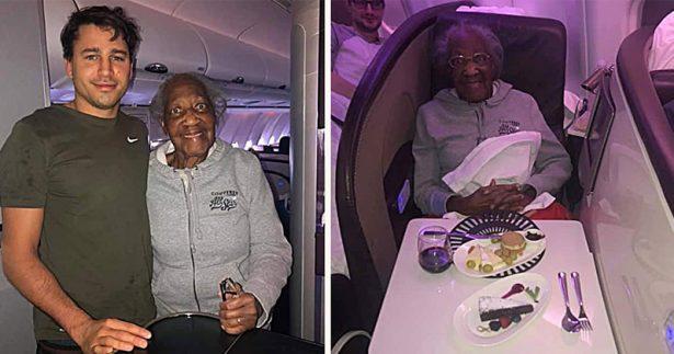 Image of Flight Passenger Offers Up First-Class Seat
