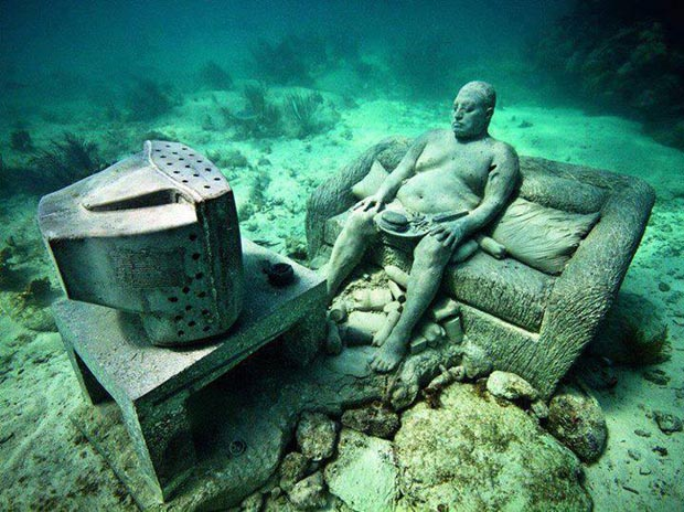Cancun Underwater Museum, Mexico, magical places