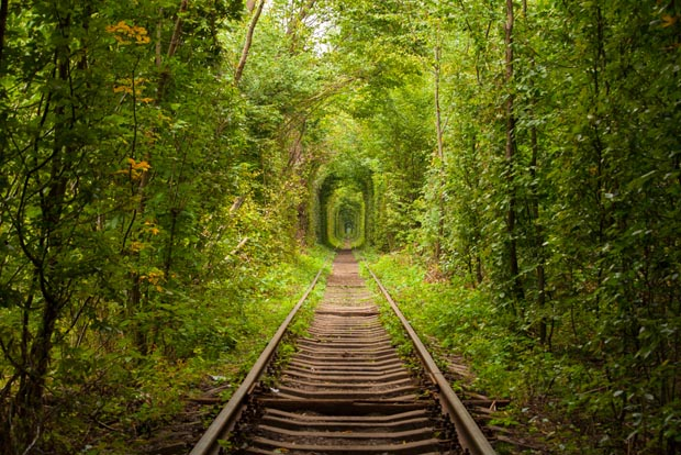 Klevan, Tunnel of Love, Ukraine, magical places