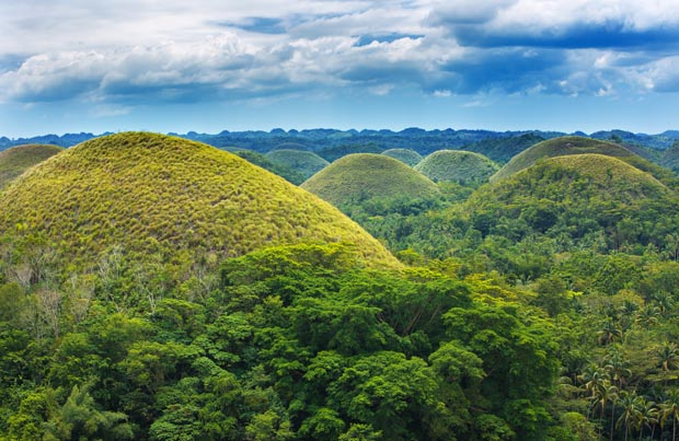 Chocolate Hills, Philippines, magical places