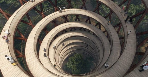 Image of Spiral Walkway in Denmark Gives you a Birds-eye View